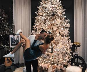 christmas, couple, and happy image