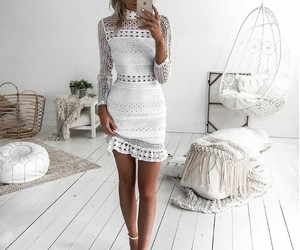 all, white, and ootd image