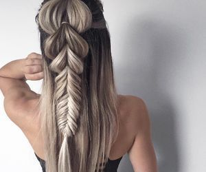 braid, fashion, and ombre image