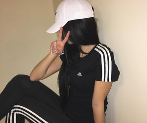 chicas, gorro, and adidas image