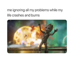 funny, groot, and meme image