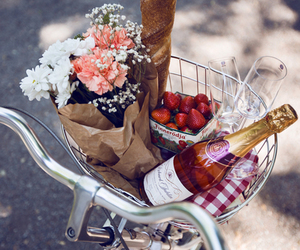 flowers, pink, and food image