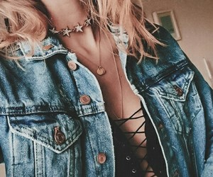 chic, fashion, and denim image