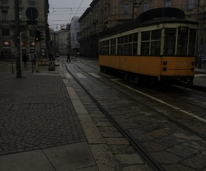 city, tram, and transports image