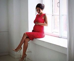 outfit, pretty, and pregnancy image