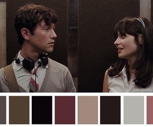 500 Days of Summer, couple, and paleta de cores image