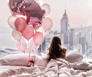 balloon, cozy, and girl image