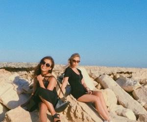 beach, cyprus, and heart image