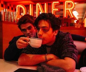 Archie, neon, and jughead image