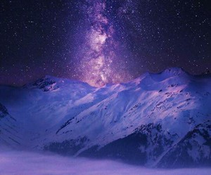 clouds, night, and mountain image