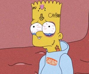 simpsons, cartoon, and bart image