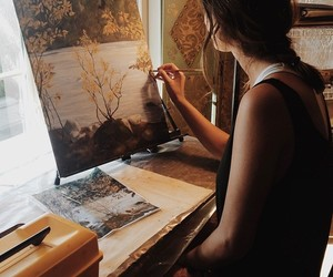 aesthetic, painting, and picture image