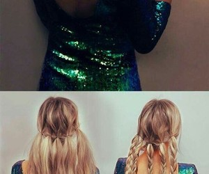 blondie, trenzas, and holidays party hair image