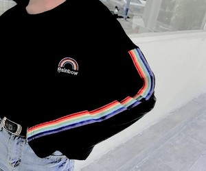 aesthetic, fashion, and rainbow image