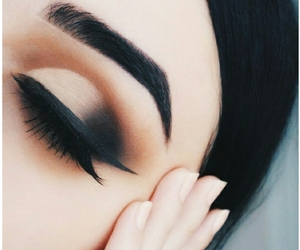 aesthetic, smokey eyes, and tumblr image