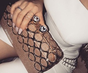accessories, clutch, and model image