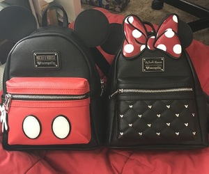 couple, His, and backpacks image