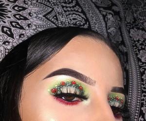 christmas, eyebrows, and eyes image