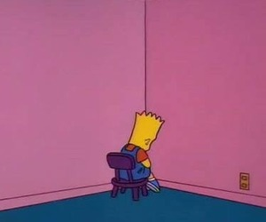 simpsons, alone, and bart image