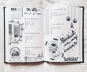 journal, bullet, and diary image