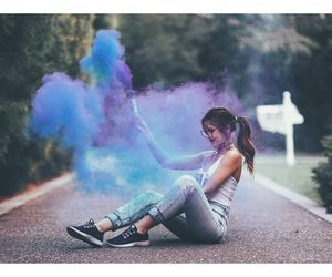 girl, colors, and tumblr image