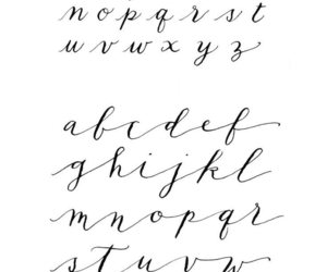 calligraphy, ABC, and font image