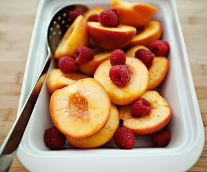 food, fruit, and peach image