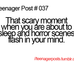 teenager post, funny, and horror image