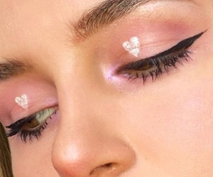 makeup, pink, and pale image