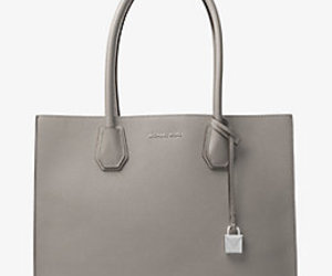 grey, handbag, and Michael Kors image
