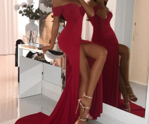 chic, dress, and glam image