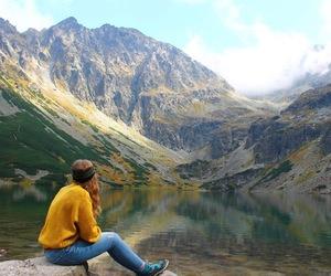 beautiful, hike, and lake image