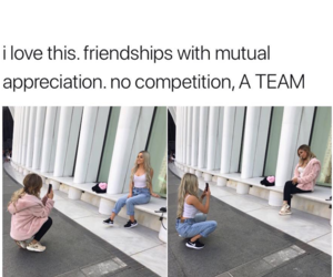 a team, bff, and love image