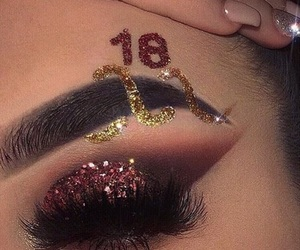 eye makeup, lashes, and new years image