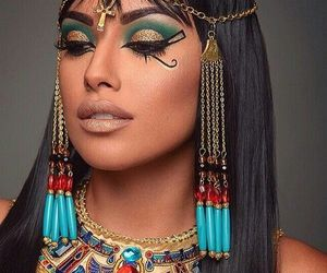 cleopatra, Halloween, and makeup image