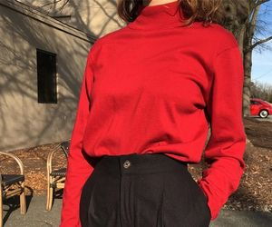 chic, look, and red image