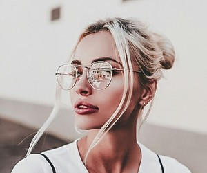 girls, vogue, and glasses image