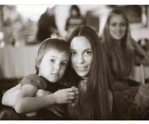 family portrait, seventies, and mother and son image