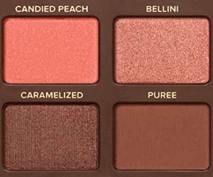eyeshadow, makeup, and peach image