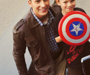chris evans, captain america, and kid image