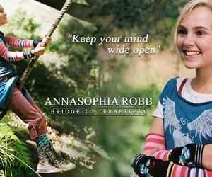 Annasophia Robb, bridge to terabithia, and leslie burke image