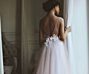 dress, outfit, and wedding image