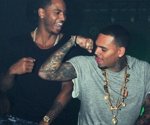 chris brown, trey songz, and tattoo image