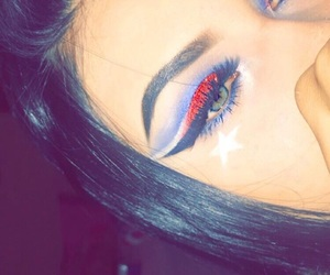 4th of july, eyeliner, and eyes image