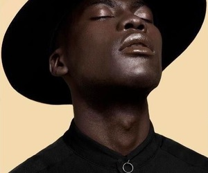 black man, model, and melanin image