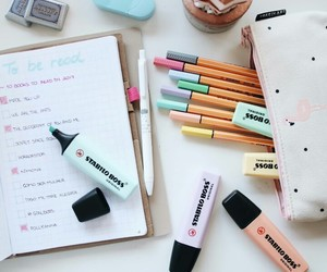 blog, planner, and stabilo image