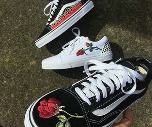 fashion, kicks, and roses image