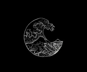 background, waves, and black image