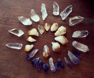 amethyst, gems, and healing image