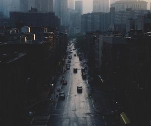 city, dark, and street image